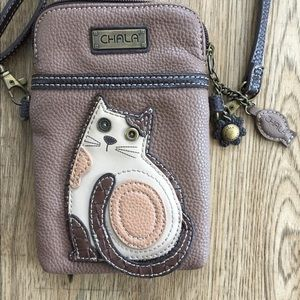 Chala cat wallet cellphone crossbody handbag